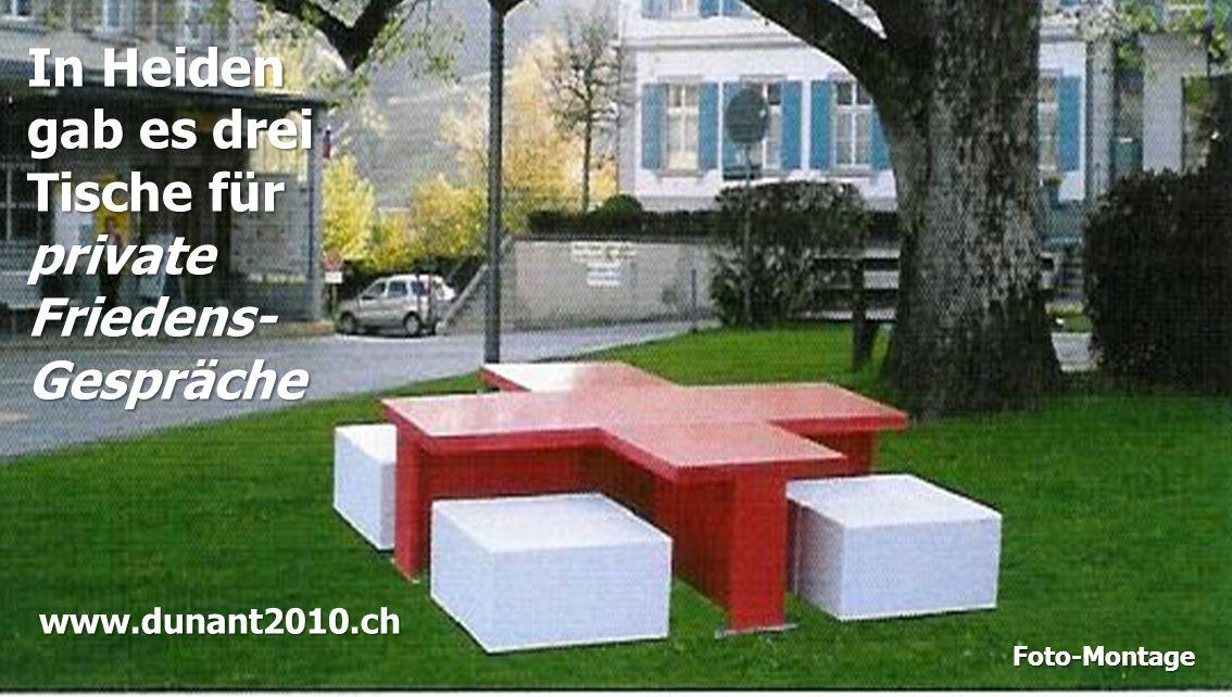 In Heiden gab es drei Tische für private Friedens- Gespräche