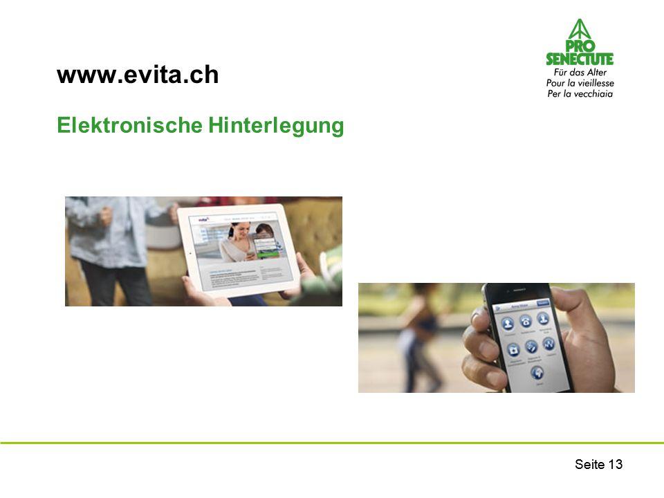 www.evita.ch Elektronische Hinterlegung