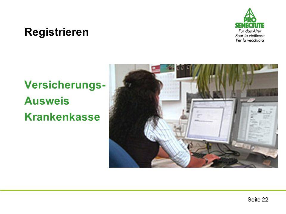 Registrieren Versicherungs- Ausweis Krankenkasse