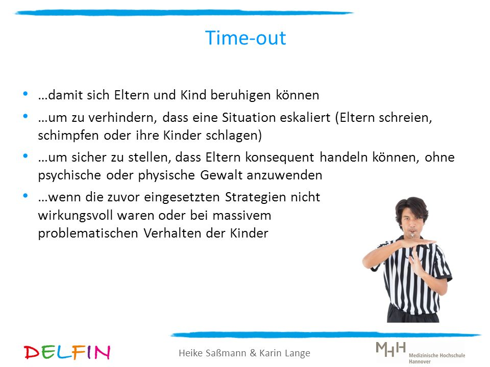 Time-out …damit sich Eltern und Kind beruhigen können