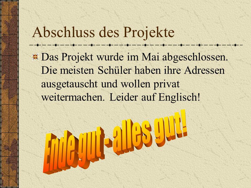 Abschluss des Projekte