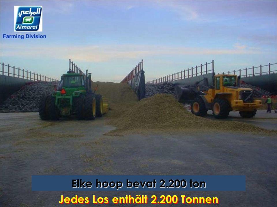 Jedes Los enthält 2.200 Tonnen