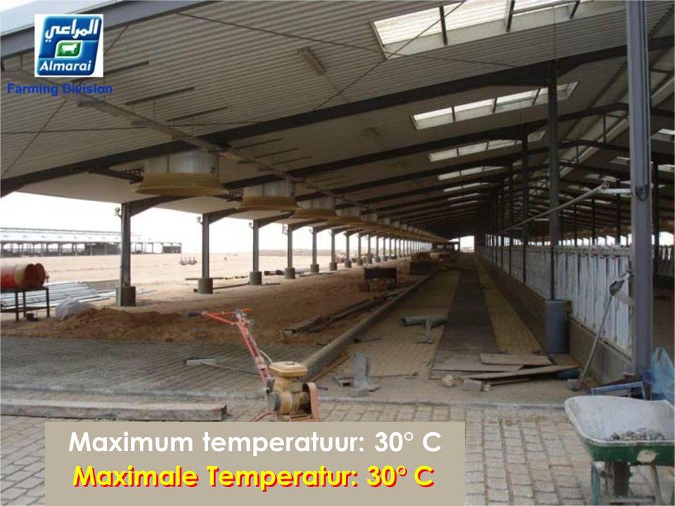 Maximum temperatuur: 30° C Maximale Temperatur: 30° C