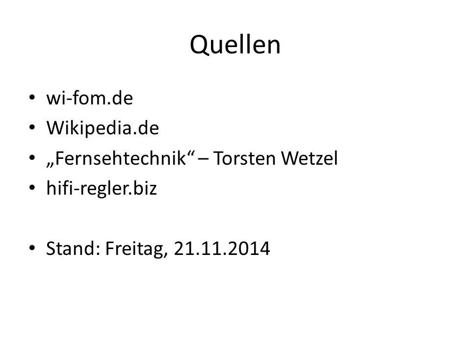 "Quellen wi-fom.de Wikipedia.de ""Fernsehtechnik – Torsten Wetzel"