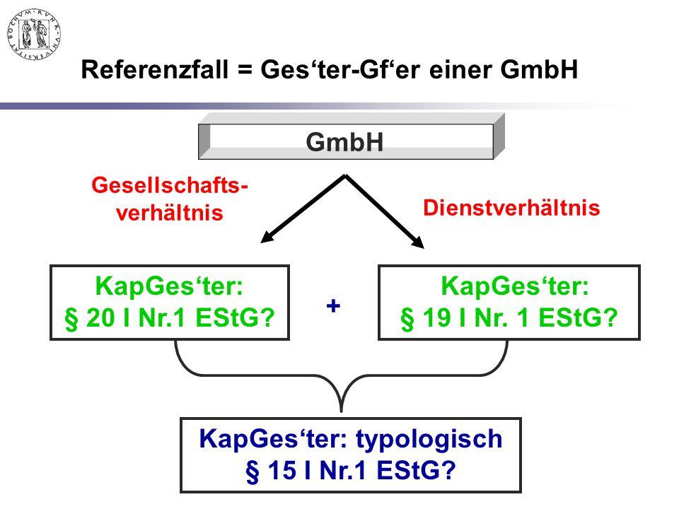 Referenzfall = Ges'ter-Gf'er einer GmbH