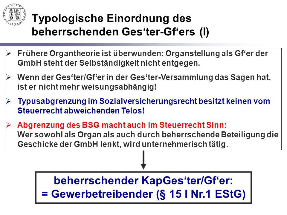 Typologische Einordnung des beherrschenden Ges'ter-Gf'ers (I)