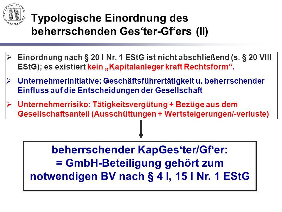 Typologische Einordnung des beherrschenden Ges'ter-Gf'ers (II)
