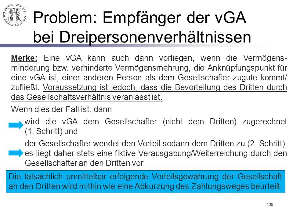 Problem: Empfänger der vGA bei Dreipersonenverhältnissen