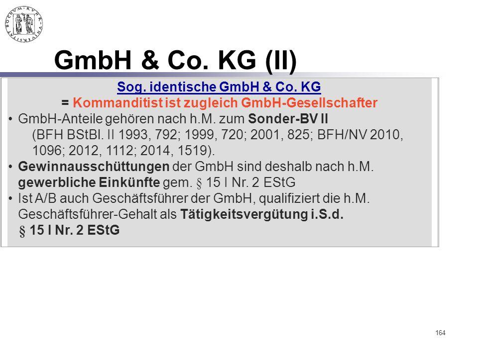 GmbH & Co. KG (II) Sog. identische GmbH & Co. KG