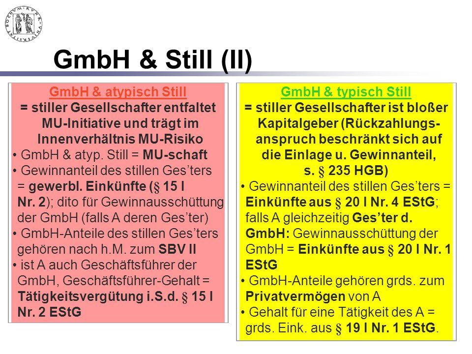 GmbH & Still (II) GmbH & atypisch Still GmbH & typisch Still