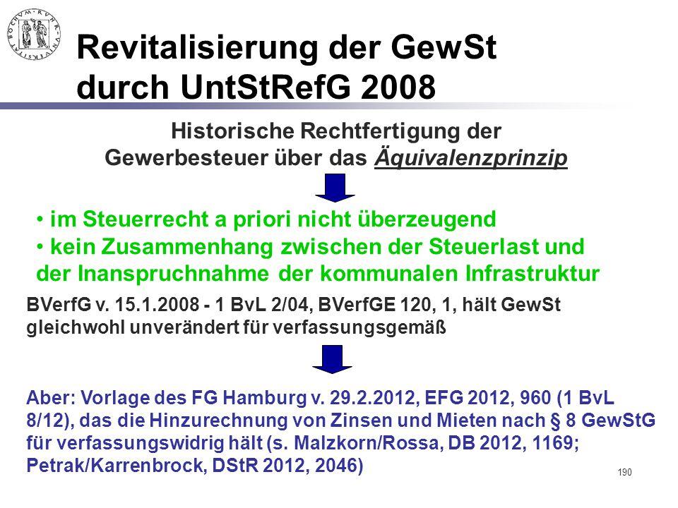 Revitalisierung der GewSt durch UntStRefG 2008