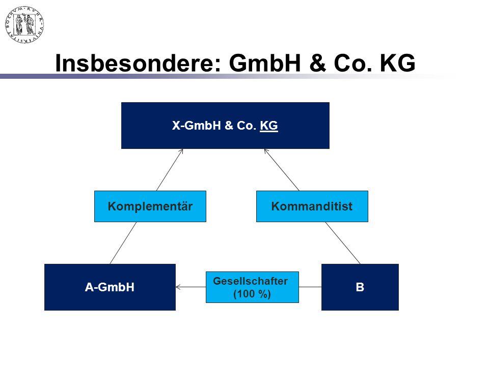 Insbesondere: GmbH & Co. KG