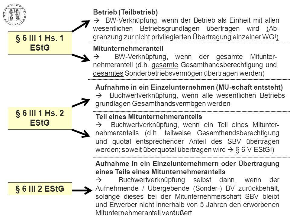 § 6 III 1 Hs. 1 EStG § 6 III 1 Hs. 2 EStG § 6 III 2 EStG