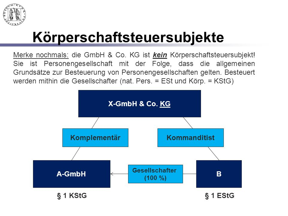 Körperschaftsteuersubjekte