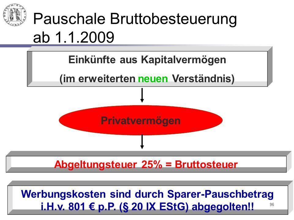 Pauschale Bruttobesteuerung ab 1.1.2009
