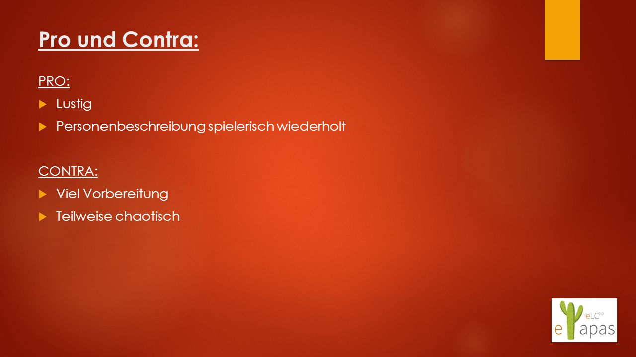 Pro und Contra: PRO: Lustig