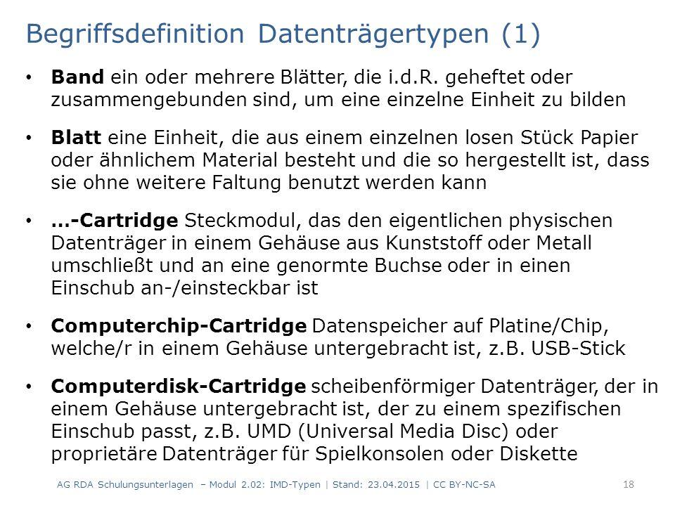 Begriffsdefinition Datenträgertypen (1)