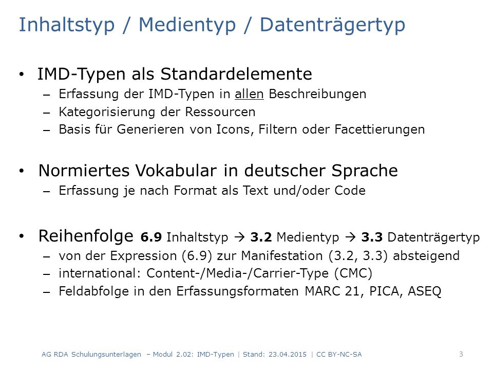 Inhaltstyp / Medientyp / Datenträgertyp
