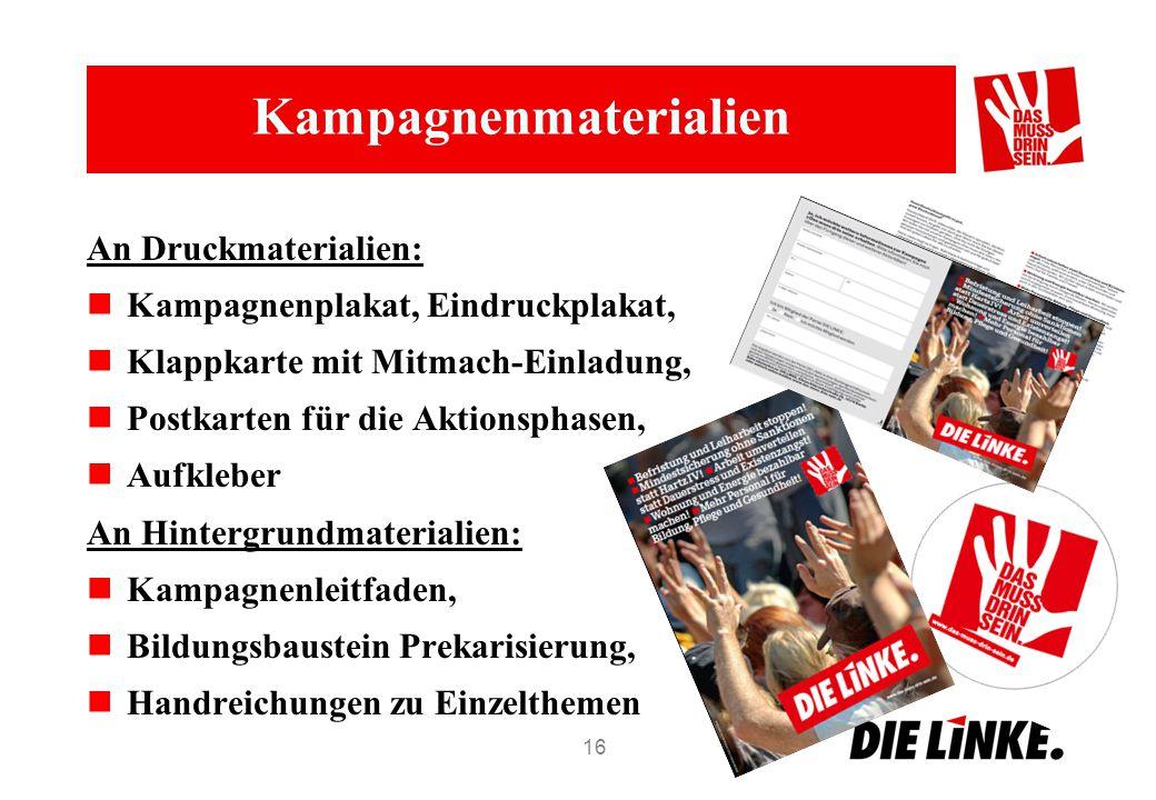 Kampagnenmaterialien