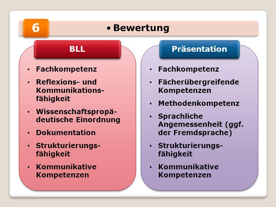 6 Bewertung BLL Präsentation Fachkompetenz