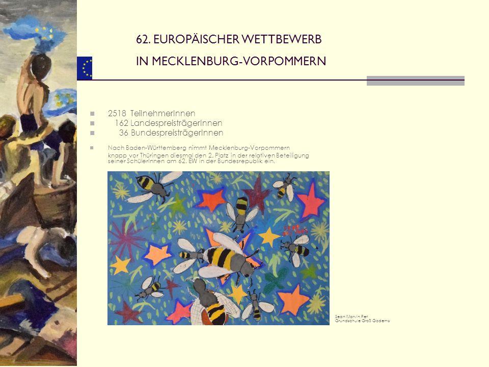 62. EUROPÄISCHER WETTBEWERB IN MECKLENBURG-VORPOMMERN