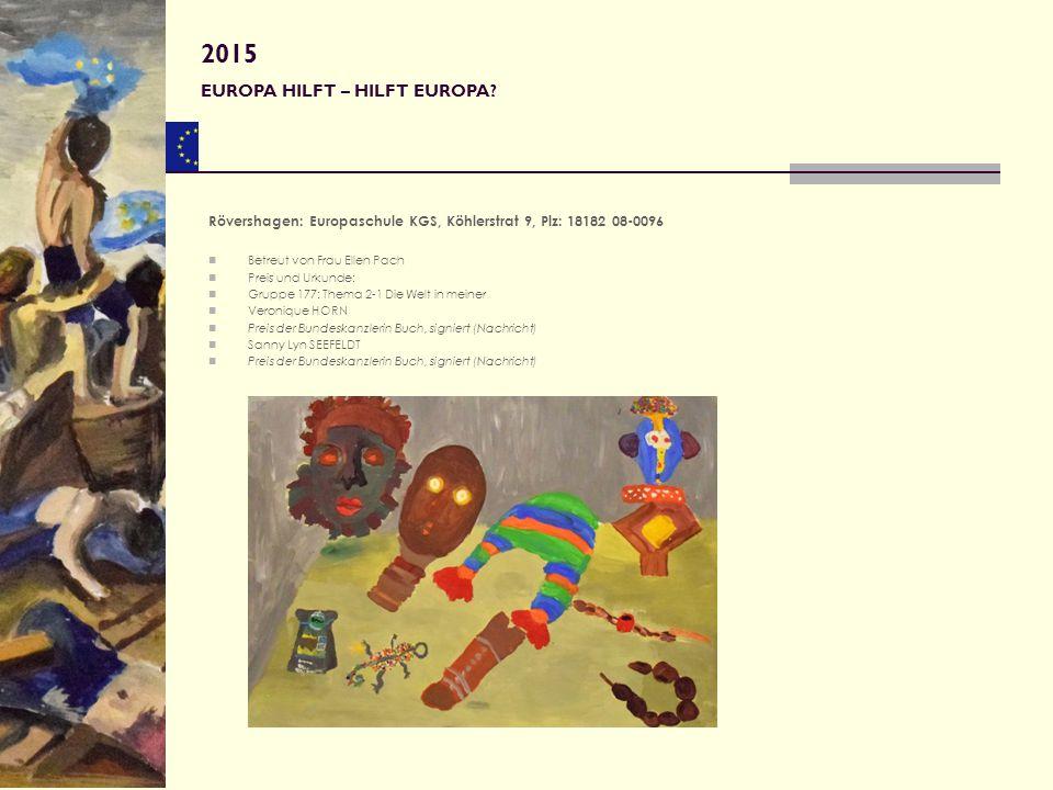 2015 EUROPA HILFT – HILFT EUROPA