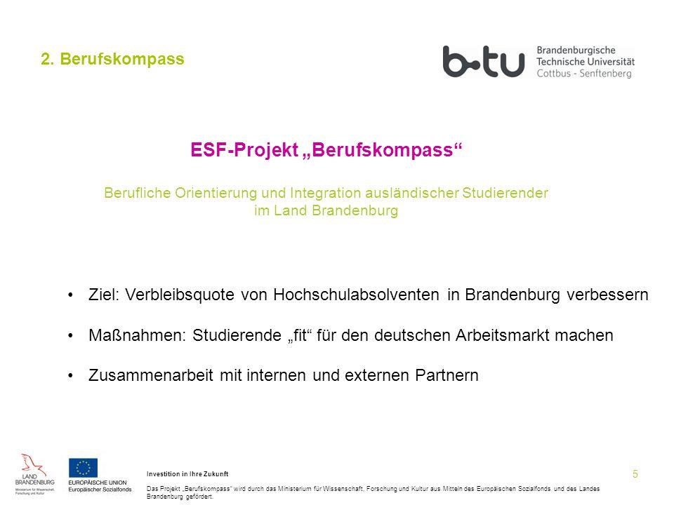 """ESF-Projekt """"Berufskompass"""