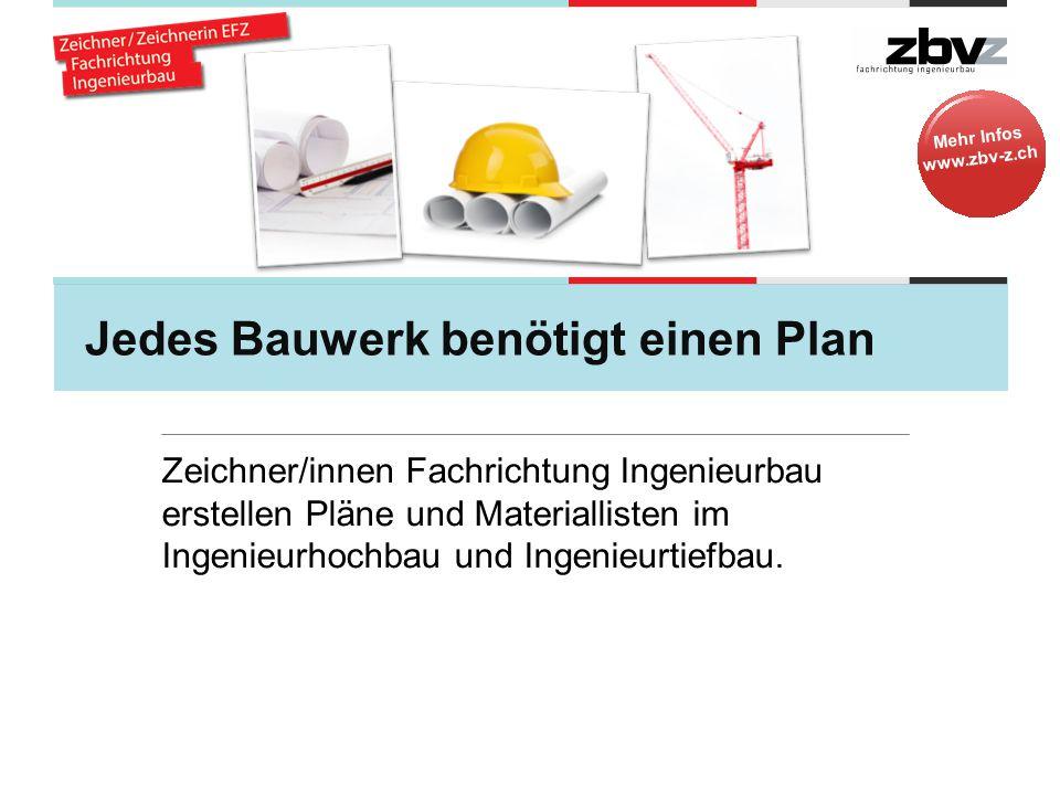 Jedes Bauwerk benötigt einen Plan