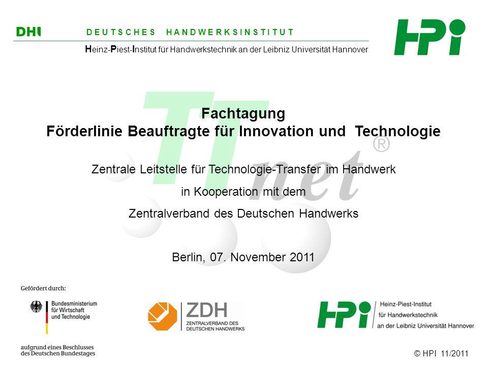 Förderlinie Beauftragte für Innovation und Technologie