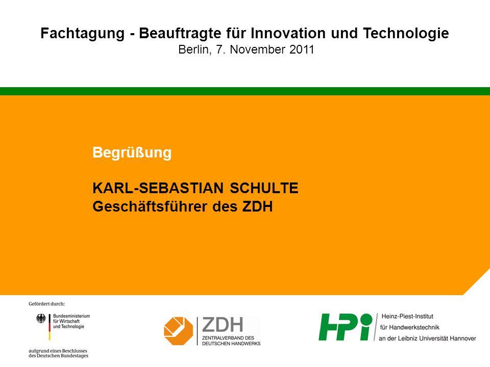 Fachtagung - Beauftragte für Innovation und Technologie