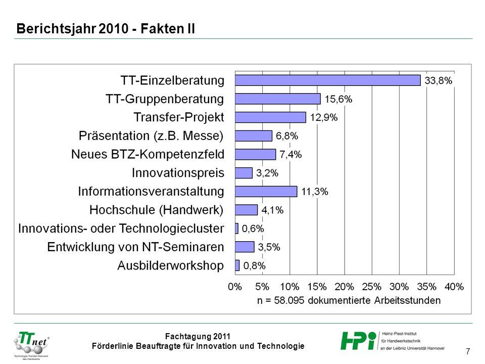 Berichtsjahr 2010 - Fakten II