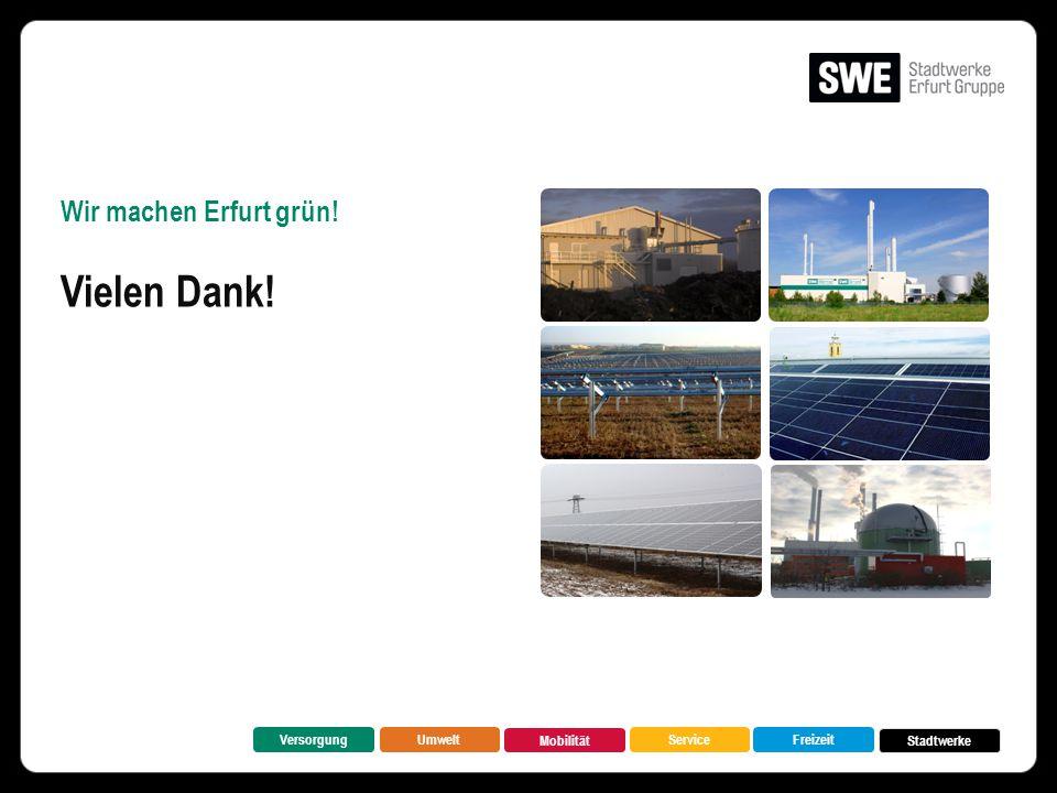 Vielen Dank! Wir machen Erfurt grün! Versorgung Umwelt Mobilität
