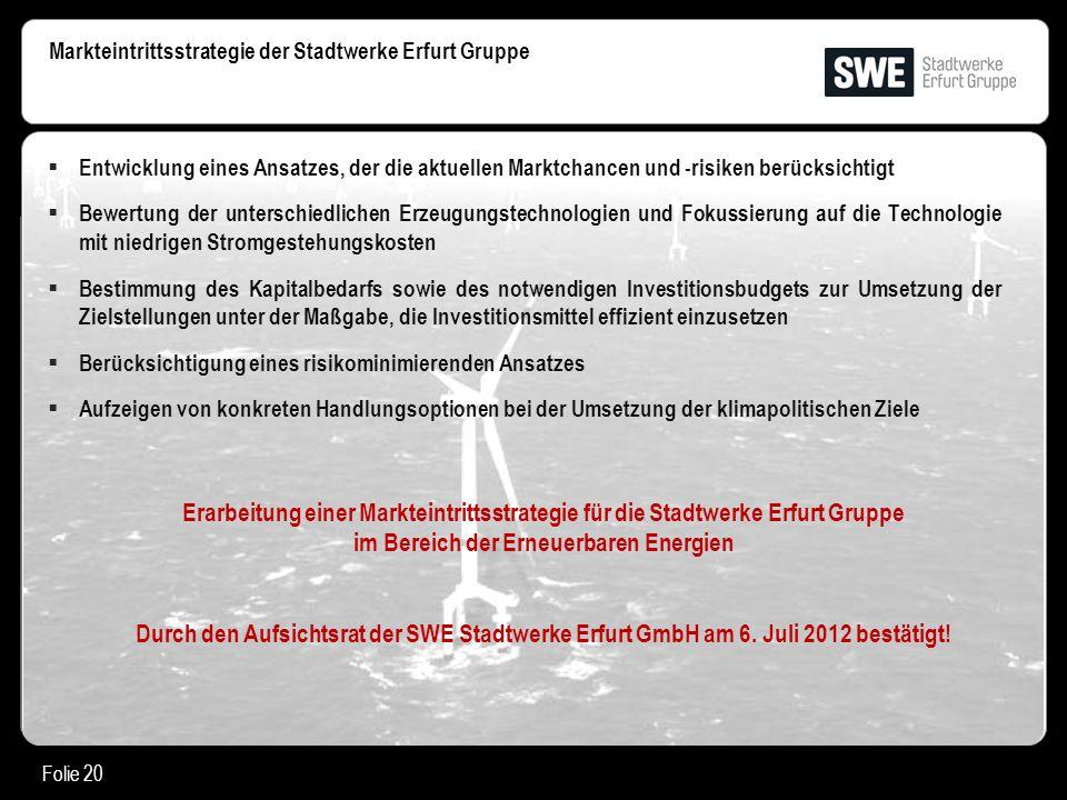 Markteintrittsstrategie der Stadtwerke Erfurt Gruppe