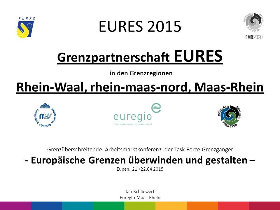 EURES 2015 Grenzpartnerschaft EURES