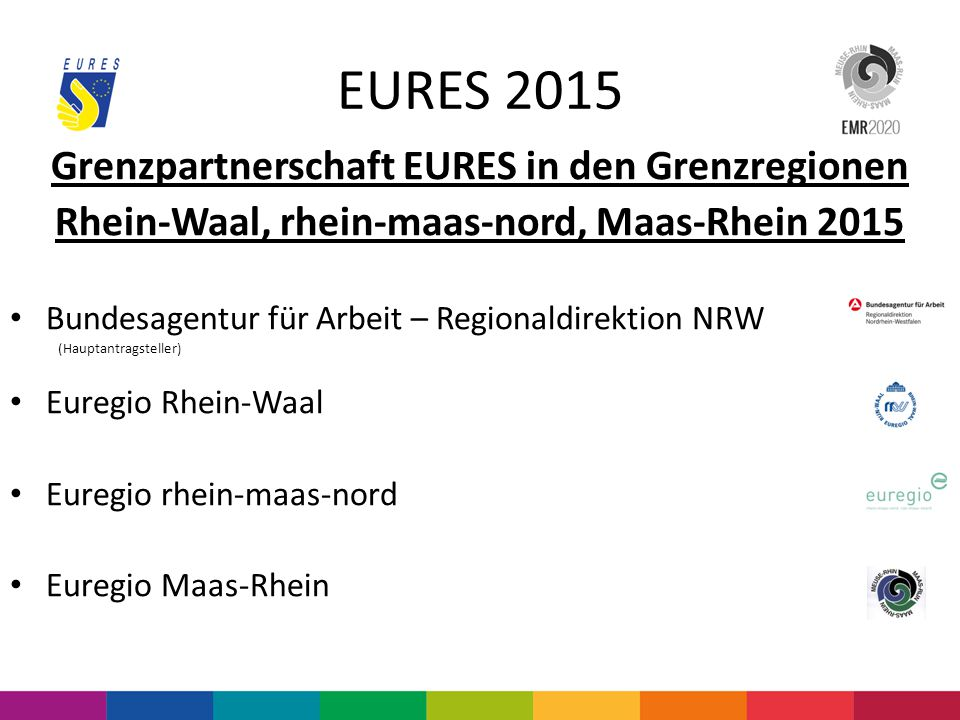 EURES 2015 Grenzpartnerschaft EURES in den Grenzregionen
