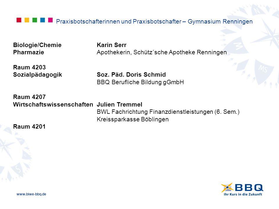 Praxisbotschafterinnen und Praxisbotschafter – Gymnasium Renningen