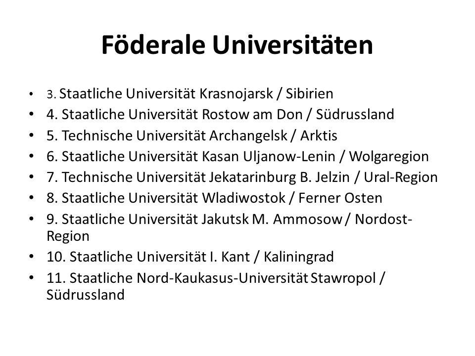 Föderale Universitäten