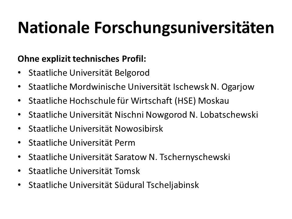 Nationale Forschungsuniversitäten