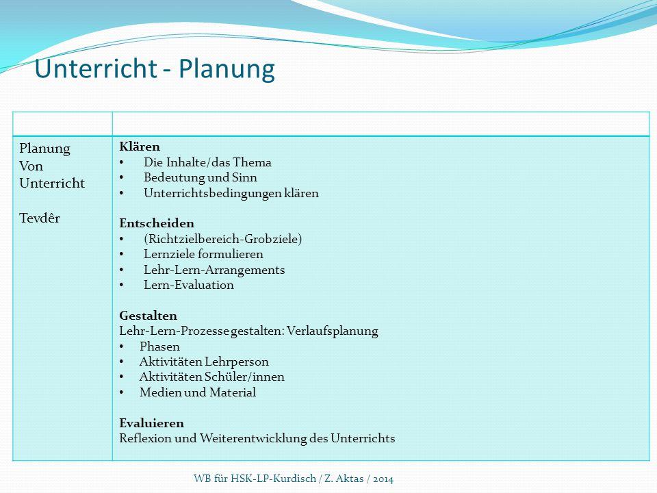 Unterricht - Planung Planung Von Unterricht Tevdêr Klären