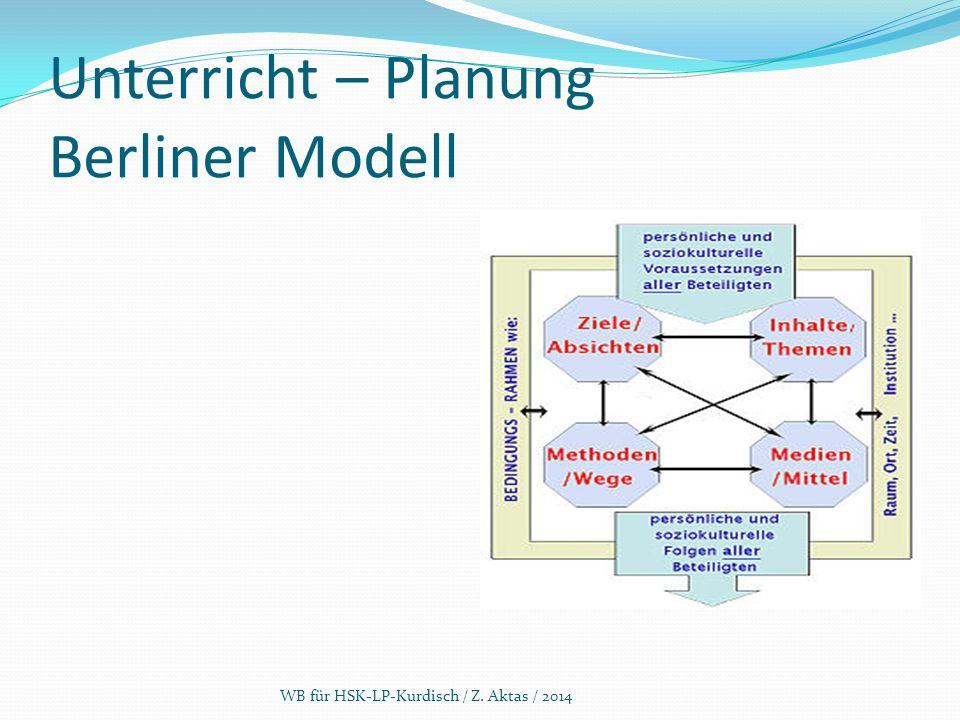 Unterricht – Planung Berliner Modell