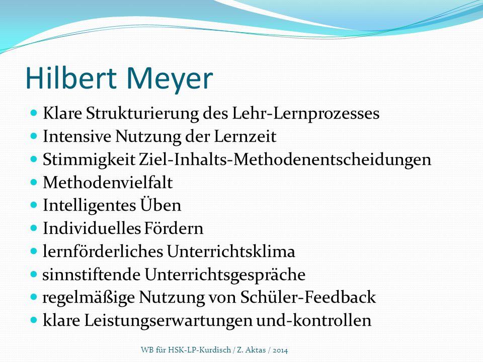 Hilbert Meyer Klare Strukturierung des Lehr-Lernprozesses