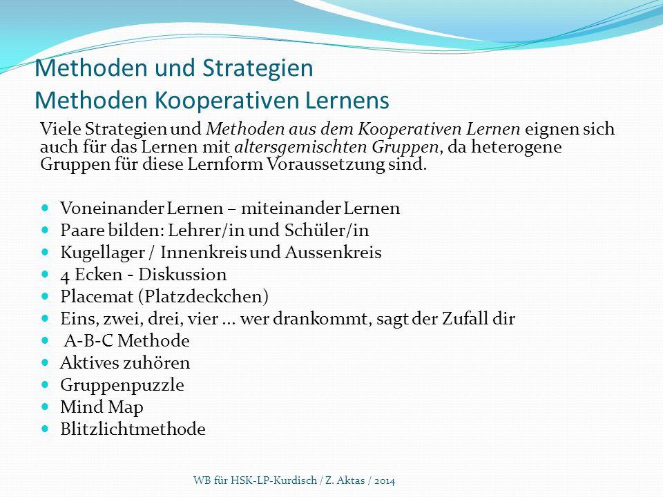 Methoden und Strategien Methoden Kooperativen Lernens