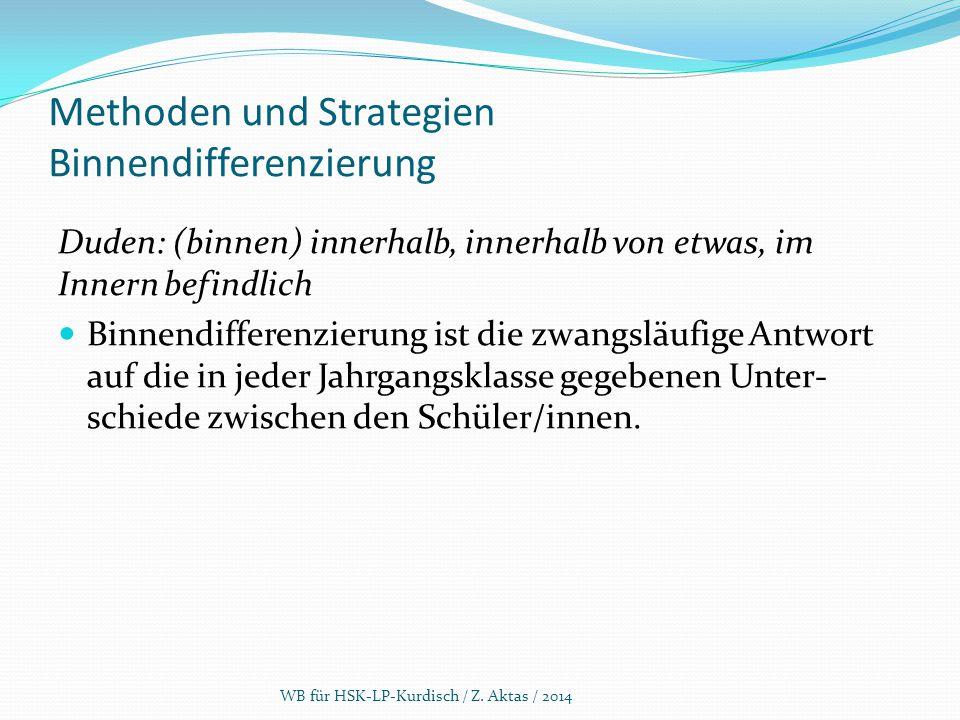 Methoden und Strategien Binnendifferenzierung