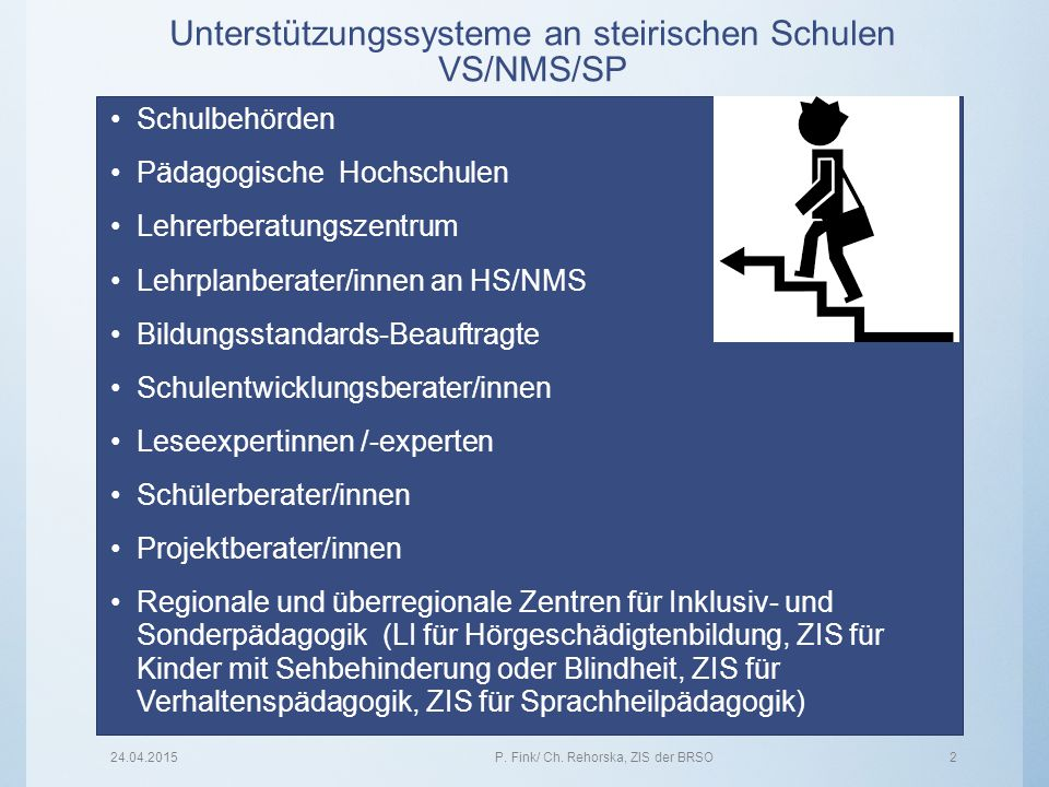 Unterstützungssysteme an steirischen Schulen VS/NMS/SP