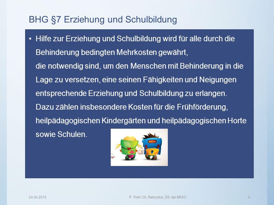 BHG §7 Erziehung und Schulbildung