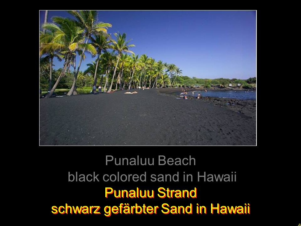 black colored sand in Hawaii