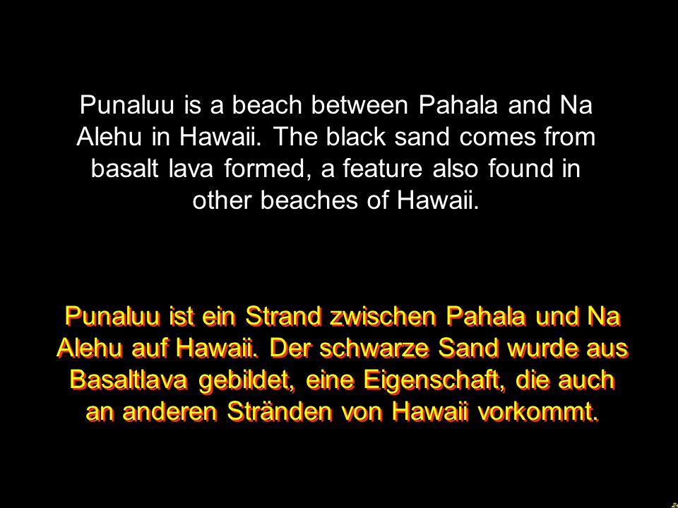 Punaluu is a beach between Pahala and Na Alehu in Hawaii