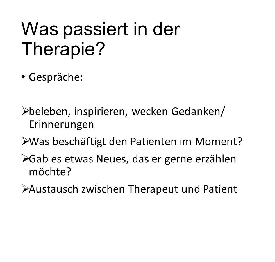 Was passiert in der Therapie