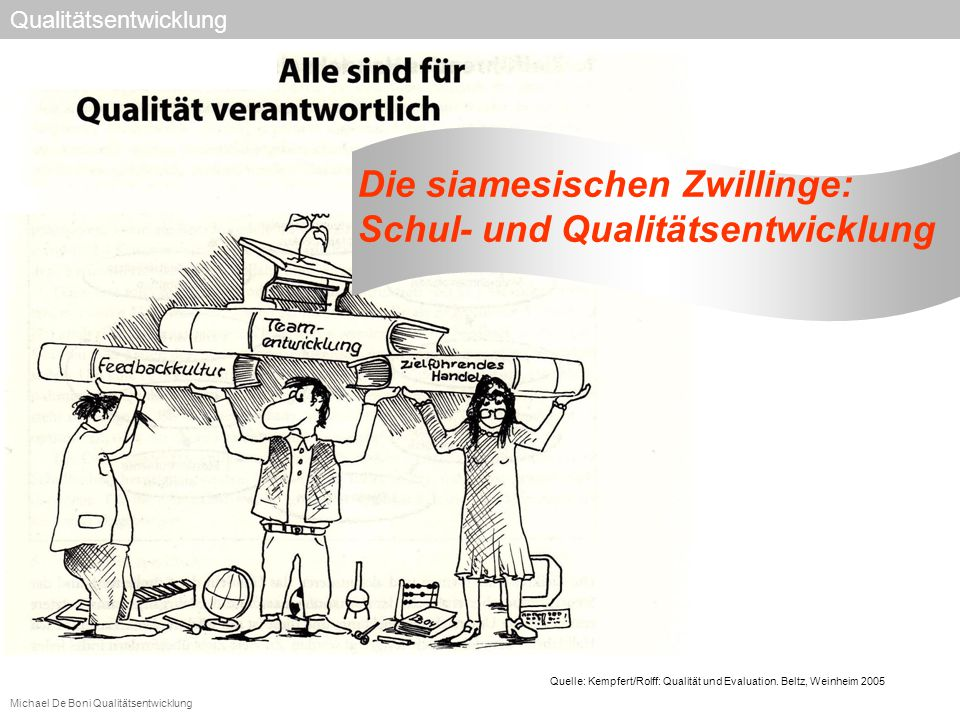 Die siamesischen Zwillinge: Schul- und Qualitätsentwicklung