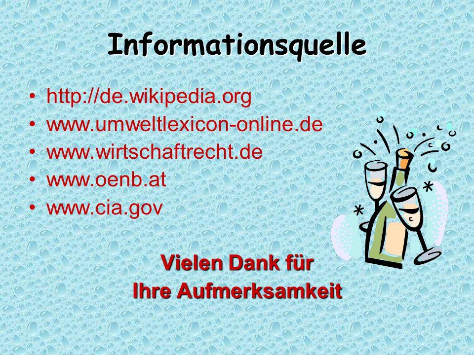 Informationsquelle http://de.wikipedia.org www.umweltlexicon-online.de